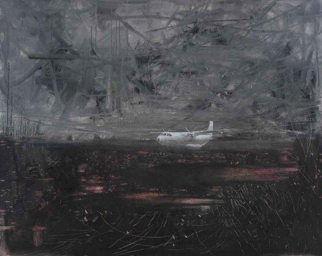 165x205 -2004-2008 tuval üzerine yağlıboya ve füzen -oil on canvas, 5.550 $ B.S