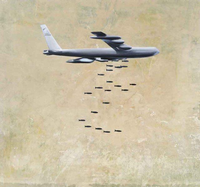 B-52 - 200x215 2004-2008 tuval üzerine yağlıboya - oil on canvas, 6